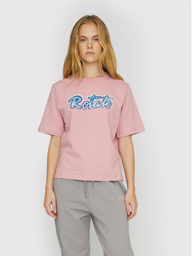 ROTATE ROTATE T-Shirt Asvera RT460 Różowy Loose Fit