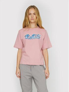 ROTATE ROTATE T-shirt Asvera RT460 Ružičasta Loose Fit