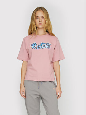 ROTATE ROTATE T-Shirt Asvera RT460 Růžová Loose Fit