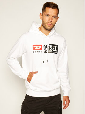 Diesel Diesel Džemperis S-Girk-Hood-Cuty A00339 0IAJH Balta Regular Fit