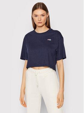 Fila Fila T-shirt Ellasyn 688929 Tamnoplava Cropped Fit