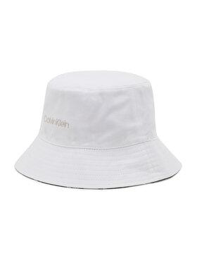 Calvin Klein Calvin Klein Klobúk typu bucket Oversize Rev K60K608299 Biela