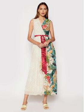 Rinascimento Rinascimento Sukienka wieczorowa CFC0103473003 Beżowy Regular Fit