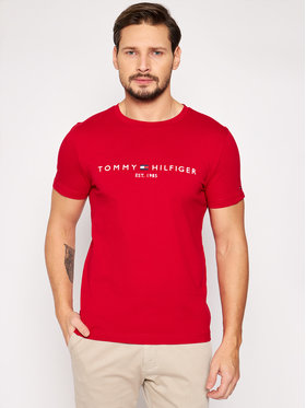 Tommy Hilfiger Tommy Hilfiger T-Shirt Logo MW0MW11797 Červená Regular Fit