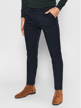 Selected Homme Selected Homme Chinosy Miles 16074054 Granatowy Slim Fit