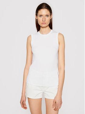 Calvin Klein Calvin Klein Bluză Rib Vest K20K202608 Alb Slim Fit