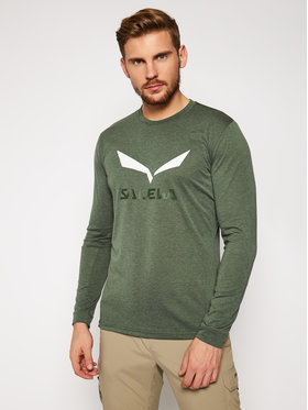 Salewa Salewa Techniniai marškinėliai Solidlogo Dry 27340 Žalia Regular Fit