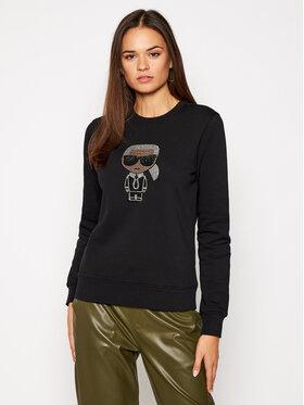 KARL LAGERFELD KARL LAGERFELD Sweatshirt Ikonik 205W1802 Schwarz Regular Fit