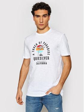 Quiksilver Quiksilver Тишърт Quiet Hour EQYZT06387 Бял Regular Fit