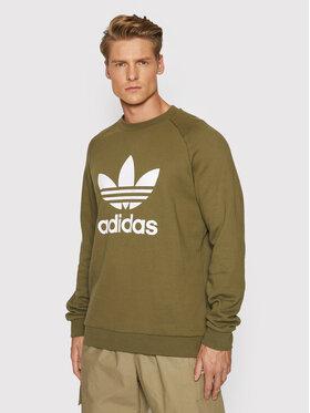 adidas adidas Суитшърт adicolor Classics Trefoil Crewneck H06652 Зелен Regular Fit