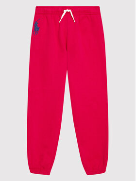 Polo Ralph Lauren Polo Ralph Lauren Teplákové kalhoty Boston 313854719004 Růžová Regular Fit