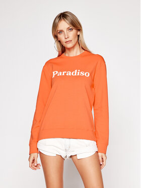 Drivemebikini Drivemebikini Sweatshirt Paradiso 2020-DRV-004_COR Orange Fitted Fit
