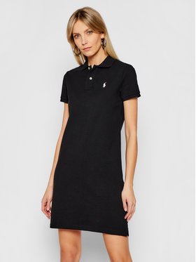 Polo Ralph Lauren Polo Ralph Lauren Rochie de zi Polo Shirt Shop 211799490018 Negru Regular Fit