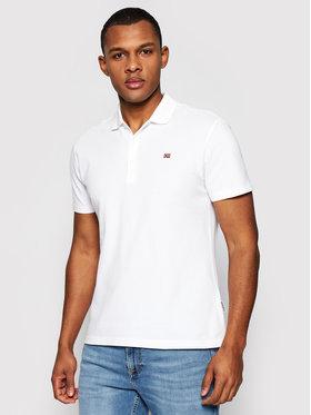 Napapijri Napapijri Тениска с яка и копчета Ealis NP0A4FA3 Бял Regular Fit