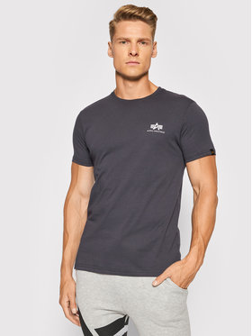 Alpha Industries Alpha Industries T-Shirt Basic T Small Logo 188505 Szary Regular Fit