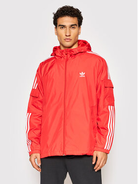 adidas adidas Átmeneti kabát adicolor Classics 3-Stripes H06685 Piros Loose Fit