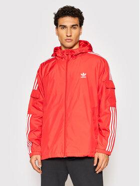 adidas adidas Geacă adicolor Classics 3-Stripes H06685 Roșu Loose Fit