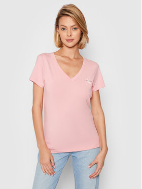 Calvin Klein Jeans Calvin Klein Jeans T-shirt J20J217166 Ružičasta Slim Fit