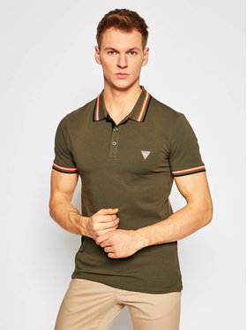 Guess Guess Polo M1RP66 J1311 Zielony Extra Slim Fit