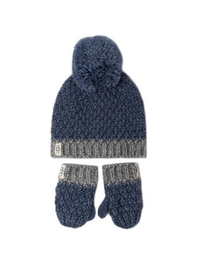 Ugg Ugg Set di Cappello e Guanti K Infant Knit Hat And Mitt Set 18802 Blu