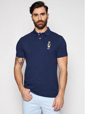 Polo Ralph Lauren Polo Ralph Lauren Polo Ssl 710835783001 Granatowy Slim Fit