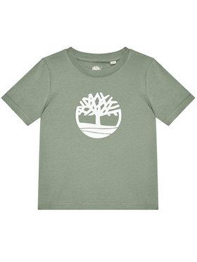 Timberland Timberland T-shirt T25R73 S Zelena Regular Fit