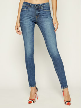 Guess Guess Jeansy Skinny Fit Jegging Mid W93A03 D3BP4 Granatowy Ultra Skinny Fit