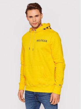 Tommy Hilfiger Tommy Hilfiger Bluza Hilfiger Logo On Hood MW0MW21424 Żółty Regular Fit