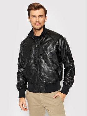Trussardi Trussardi Veste en cuir 52S00548 Noir Regular Fit