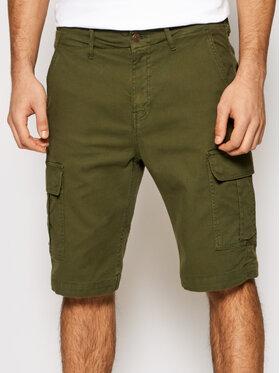 Guess Guess Bavlnené šortky M1GD17 WDP31 Zelená Regular Fit