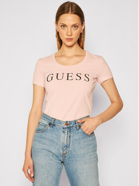 Guess Guess T-Shirt Emma W0YI0F J1300 Różowy Regular Fit