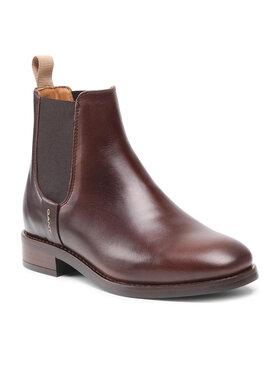 Gant Gant Členková obuv s elastickým prvkom Fayy 23551112 Hnedá