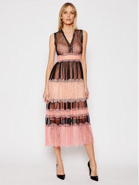 TwinSet TwinSet Koktejlové šaty 202TP2202 Ružová Regular Fit