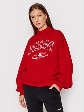 MSGM MSGM Felpa 3141MDM73 217799 Rosso Relaxed Fit