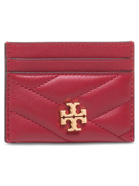 Tory Burch Tory Burch Etui na karty kredytowe Kira Chevron Card Case 56815 Czerwony