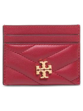 Tory Burch Tory Burch Kreditinių kortelių dėklas Kira Chevron Card Case 56815 Raudona