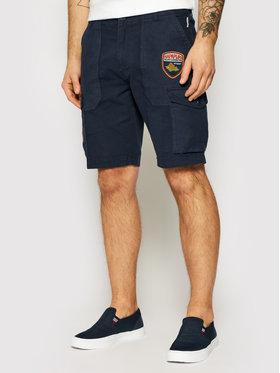 Napapijri Napapijri Pantalon scurți din material Nelli NP0A4F5V Bleumarin Regular Fit