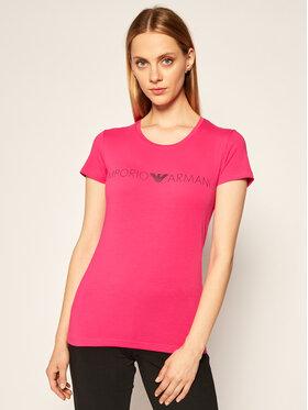 Emporio Armani Underwear Emporio Armani Underwear Marškinėliai 163139 0A317 20973 Rožinė Slim Fit