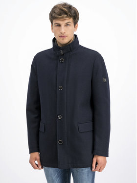 Pierre Cardin Pierre Cardin Vilnonis paltas 69130 Tamsiai mėlyna Regular Fit