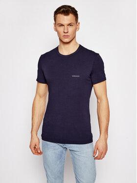Versace Versace T-shirt Girocollo AUU04023 Blu scuro Slim Fit
