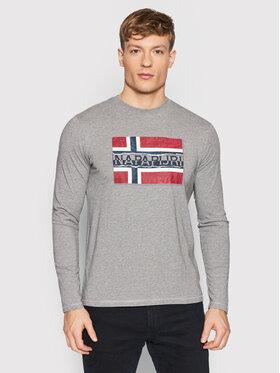 Napapijri Napapijri Тениска с дълъг ръкав Sench NP0A4FRQ Сив Regular Fit