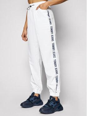 Tommy Jeans Tommy Jeans Teplákové kalhoty Jogger Tape DW0DW10141 Bílá Relaxed Fit