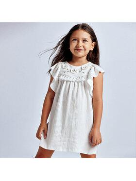 Mayoral Mayoral Φόρεμα καθημερινό 3940 Λευκό Regular Fit