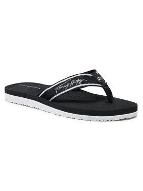 Tommy Hilfiger Tommy Hilfiger Šlepetės per pirštą Comfort Footbed Beach Sandal FW0FW05668 Juoda