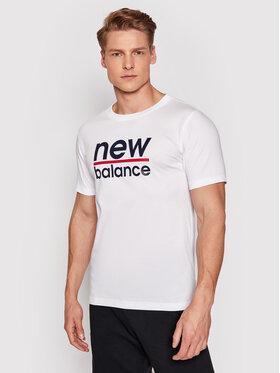New Balance New Balance Marškinėliai Split MT11905 Balta Regular Fit