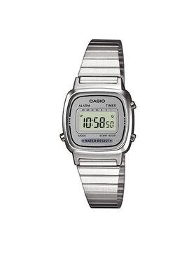 Casio Casio Hodinky LA670WEA-7EF Stříbrná