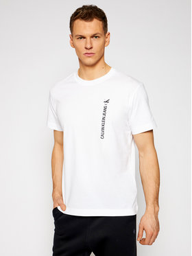 Calvin Klein Jeans Calvin Klein Jeans Tričko J30J318303 Biela Regular Fit
