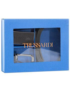 Trussardi Jeans Trussardi Jeans Ζώνη Ανδρική Belt Kit Cuoio 71L00134 Μαύρο