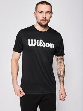 Wilson Wilson Тениска от техническо трико Uwii Script Tech Tee WRA770306 Черен Regular Fit