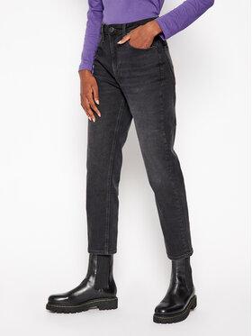 Lee Lee Дънки Straight Fit Carol L30UCPTY Черен Straight Fit